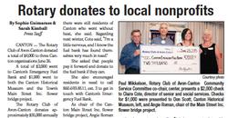 Rotary donates to local nonprofits