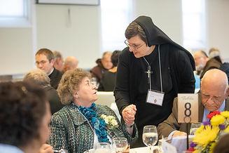 Sister Sharon, CSC and Sister Gilmary, J