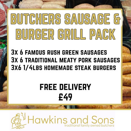 Butchers Sausage & Burger Grill Pack