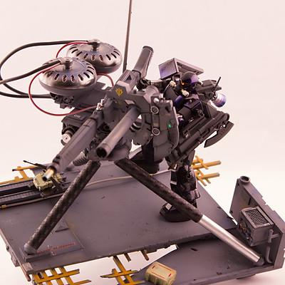 MS-06 Zaku II ver. Space Camo and Big Gun