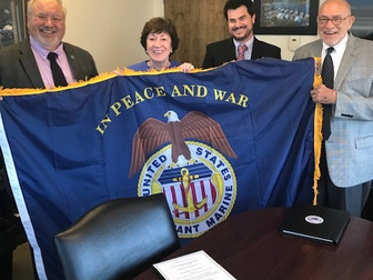 IAMPE Presents USMM Flag to Senator Susan Collins