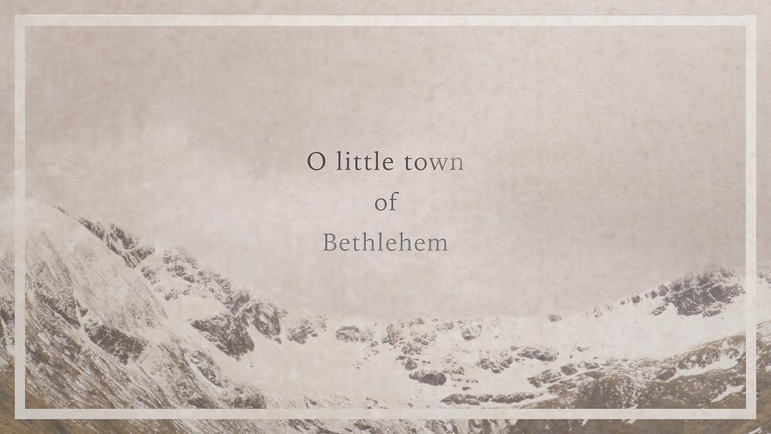 O little town of Bethlehem Large Website