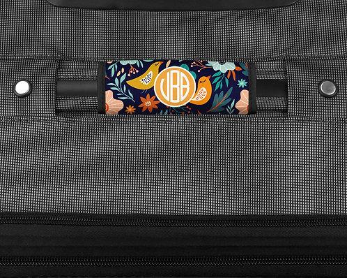 Floral w/Birds - Luggage Handle Wrap