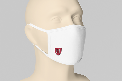 Harvard College Face Mask -White