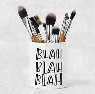 personalized makup brush holder