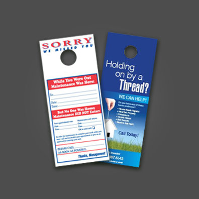 "3.5"" x 8.5"" Uncoated Door Hanger"