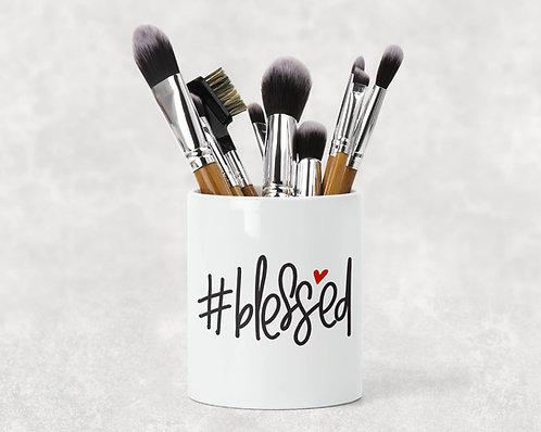 #Blessed Make Up Brush Holder