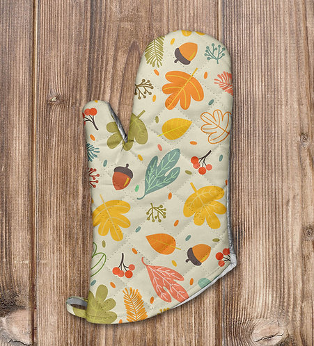 Colorful Fall Leaves Oven Mitt