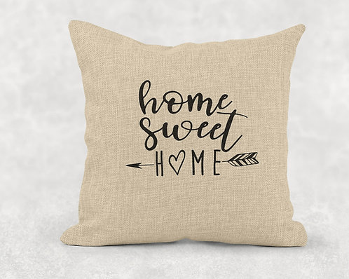 Home Sweet Home - Large Burlap Pillow