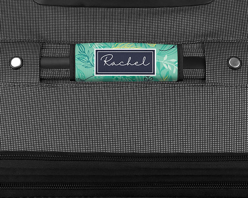 Forest Herbs Blue - Luggage Handle Wrap