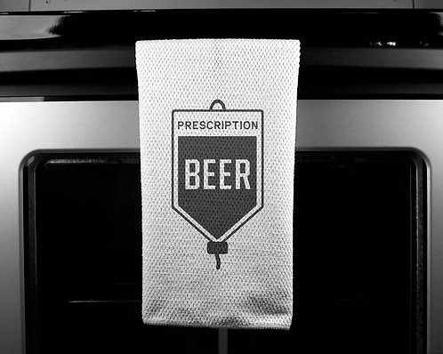 Prescription Beer Dish Towel