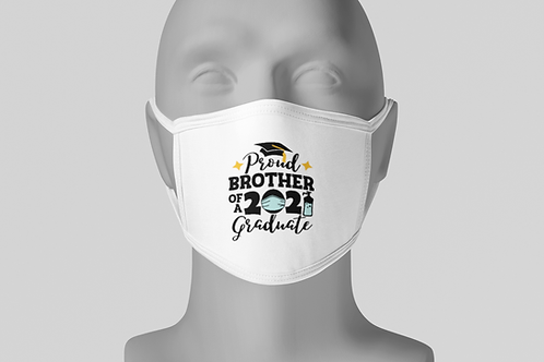 Proud Grad Brother - Face Mask