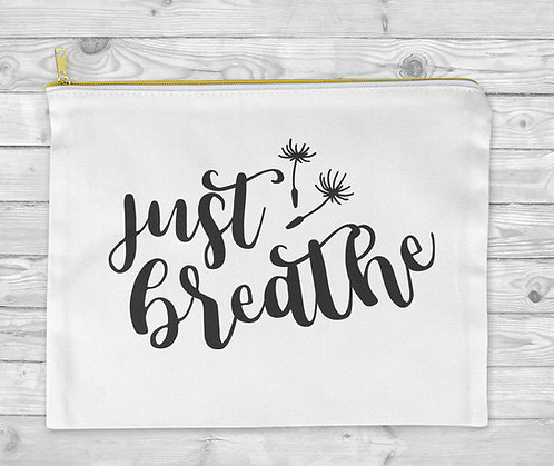 Just Breathe Cosmetic Bag