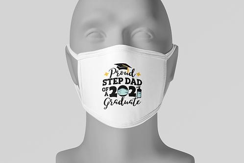 Proud Grad Step-Dad - Face Mask