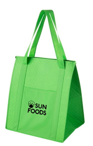 Y2KC1315 - Insulated Non-Woven Grocery Tote Bag & Poly Board Insert