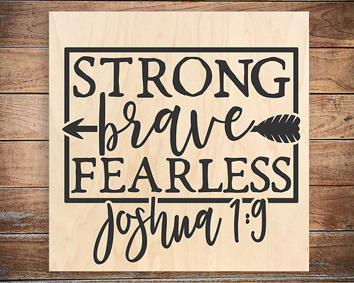 Strong, Brave, Fearless Quote Block