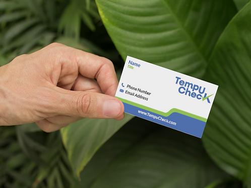 TempuCheck Business Cards