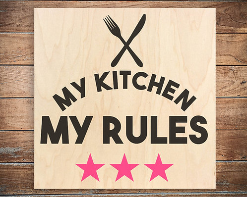 My Kitchen My Rules Quote Block
