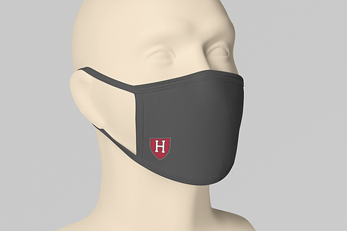 Harvard College Face Mask -Charcoal