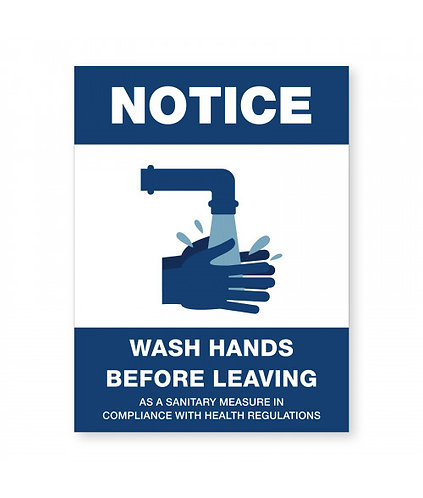 Covid-19 - Notice to Wash Hands