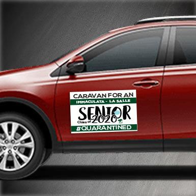 Senior Caravan Car Magnets