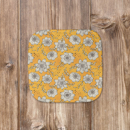 Yellow Floral Pot Holder