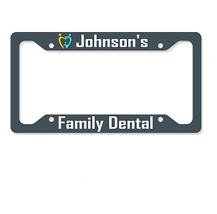personalized license plate holders