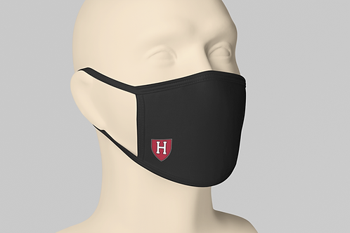 Harvard College Face Mask - Black