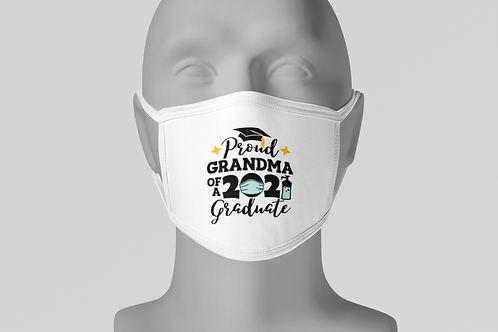 Proud Grad Grandma - Face Mask