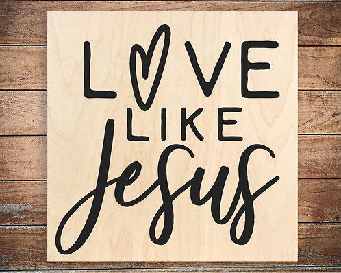 Love Like Jesus Quote Block
