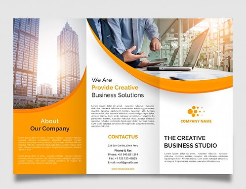 """8.5"""" x 11"""" TriFold Brochures"""