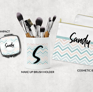 personalized makeup gift set