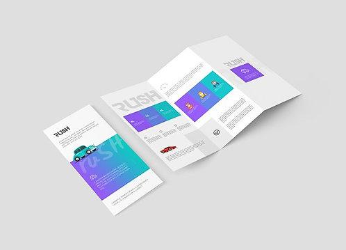"8.5"" x 11"" Z Fold Brochures"