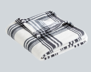 Black/White Plaid Blanket