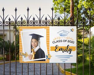 Middle School Frame Horizontal Banner