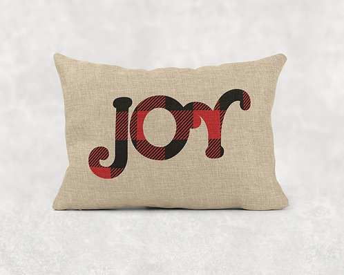 Joy- Rectangle Burlap Pillow