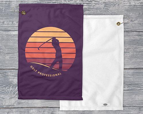 Retro Golf Professional - Golf Towel