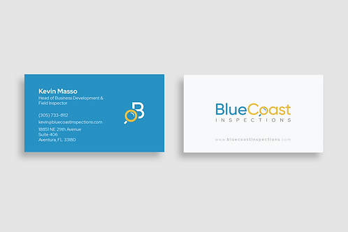 Blue Coast Inspections Business Card