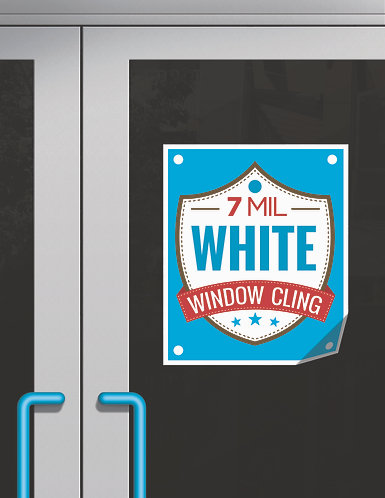 White Window Cling