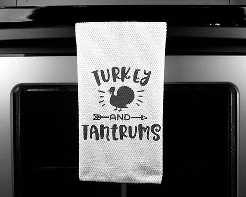 Turkey Tantrums Dish Towel