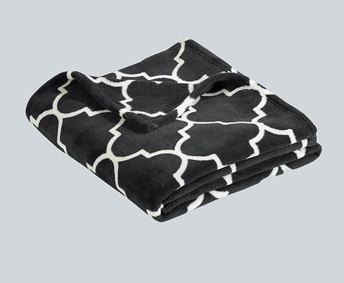 Quatrefoil Graphite Blanket