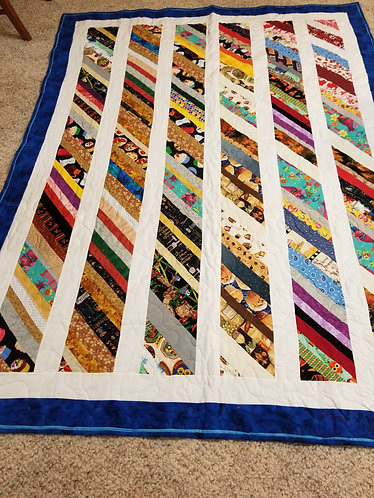 Scrappy Strip Picnic Quilt