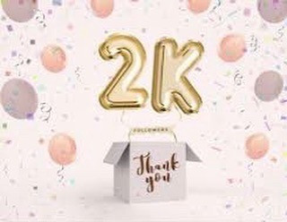 THANK YOU🎉🎉 2000 FOLLOWERS 🎊🎊