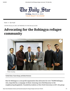 Advocating for the Rohingya refugee comm