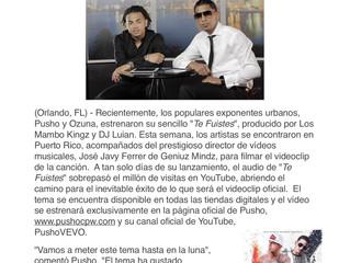 """Pusho Y Ozuna Filman El Videoclip De """"Te Fuistes"""""""