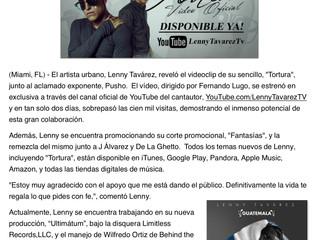 """Lenny Tavarez revela el videoclip de """"Tortura"""" junto a Pusho"""