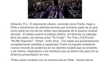 Pusho Cautiva Al Publico De Chile