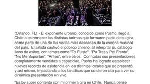 Pusho Cautiva Al Publico De Chile