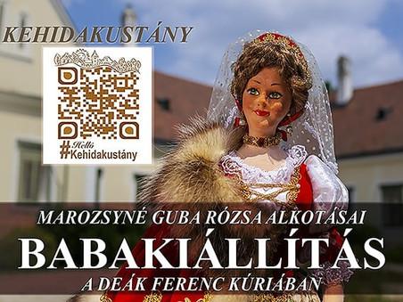 Babakiállítás a Deák Ferenc Kúriában - Kehidakustány Turisztikai Egyesület (augusztus-december)