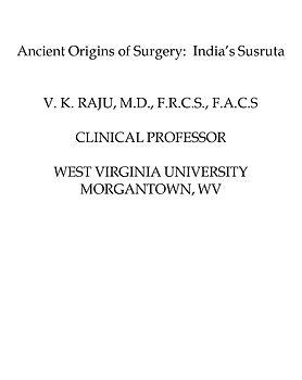 Ancient Origin of Surgery, India's Susru